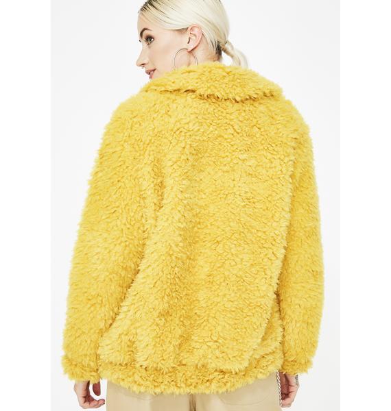 Gettin Cozy Fuzzy Jacket
