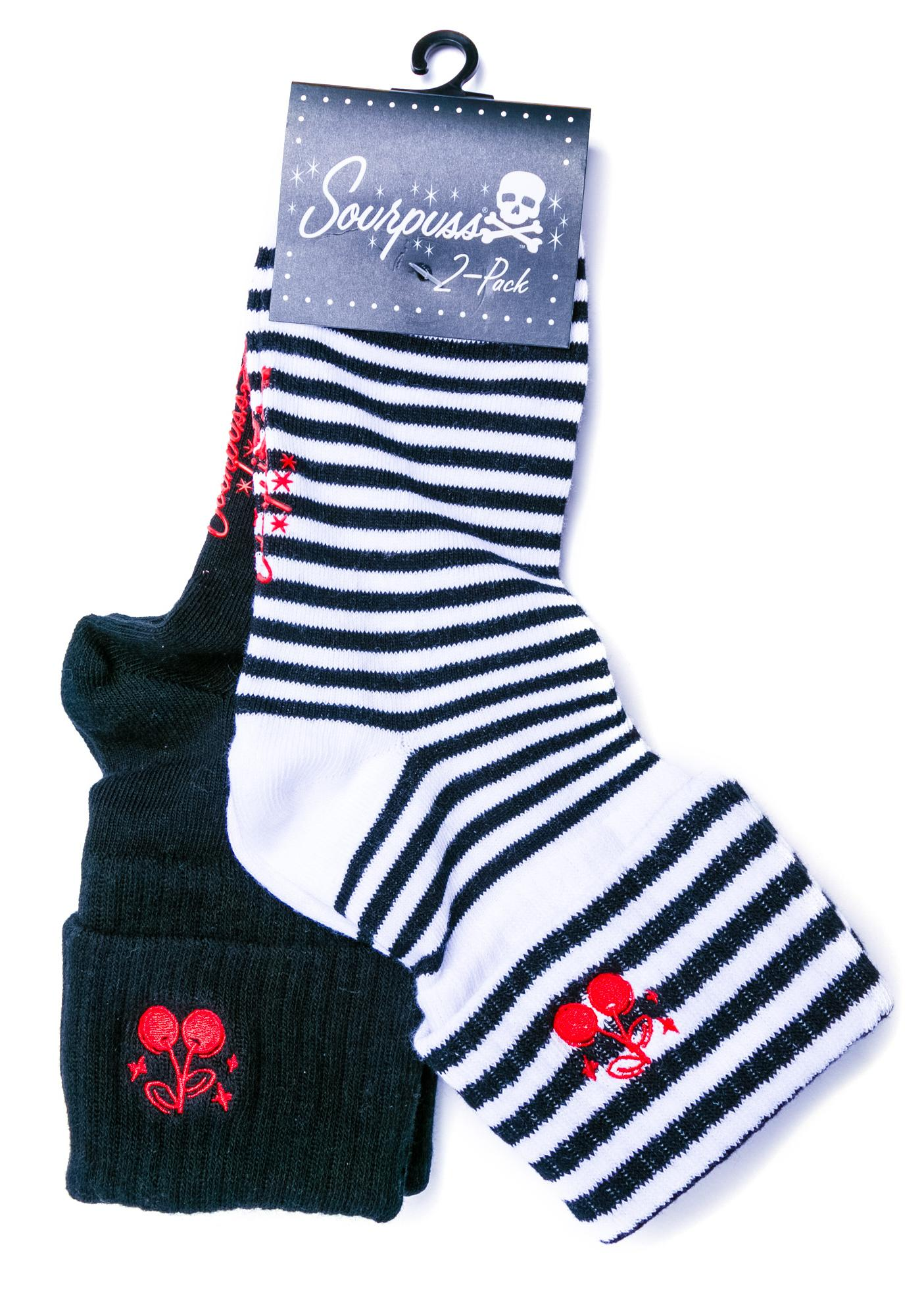 Sourpuss Clothing Cherries Socks Set