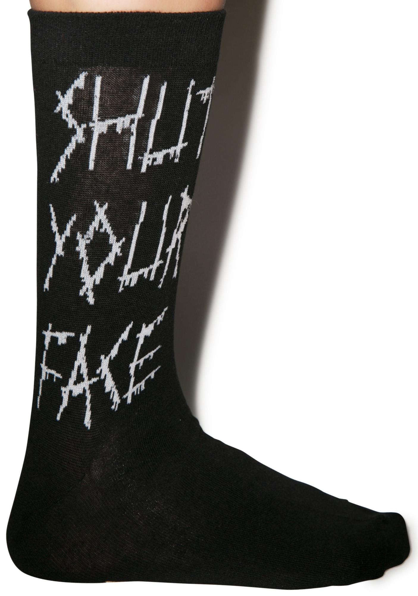 Shut Your Face Socks