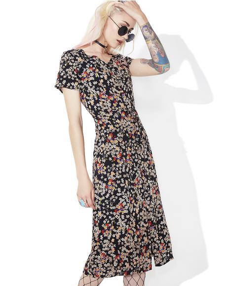 Daisy May Buttoned Midi Dress