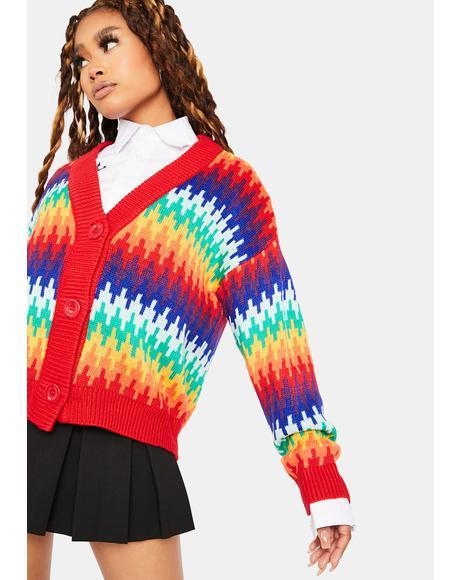 Forgotten Rainbow Knit Cardigans