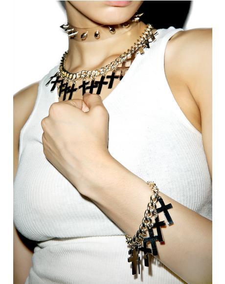 Crossed Off Bracelet