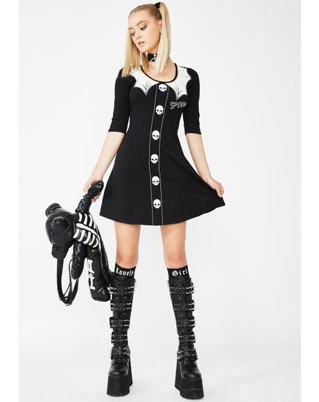 Spooky Girl Flare Mini Dress