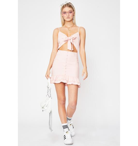 Candy Drawn To You Cut-Out Dress