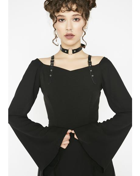 Punk Chiffon Buckle Shirt