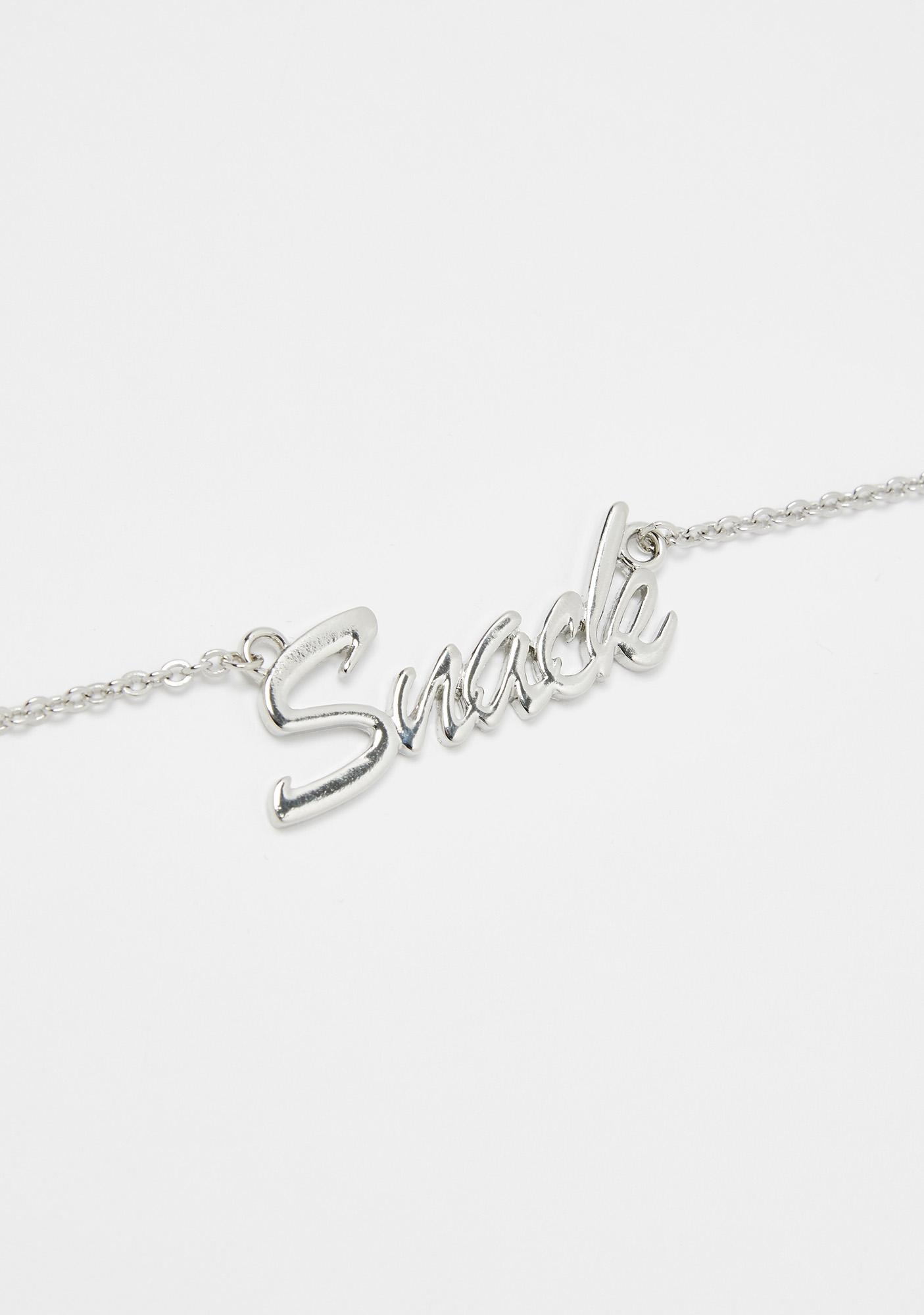 A Whole Snack Nameplate Necklace