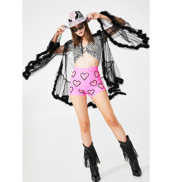Magical Wonderland Barbie Sequin Shorts