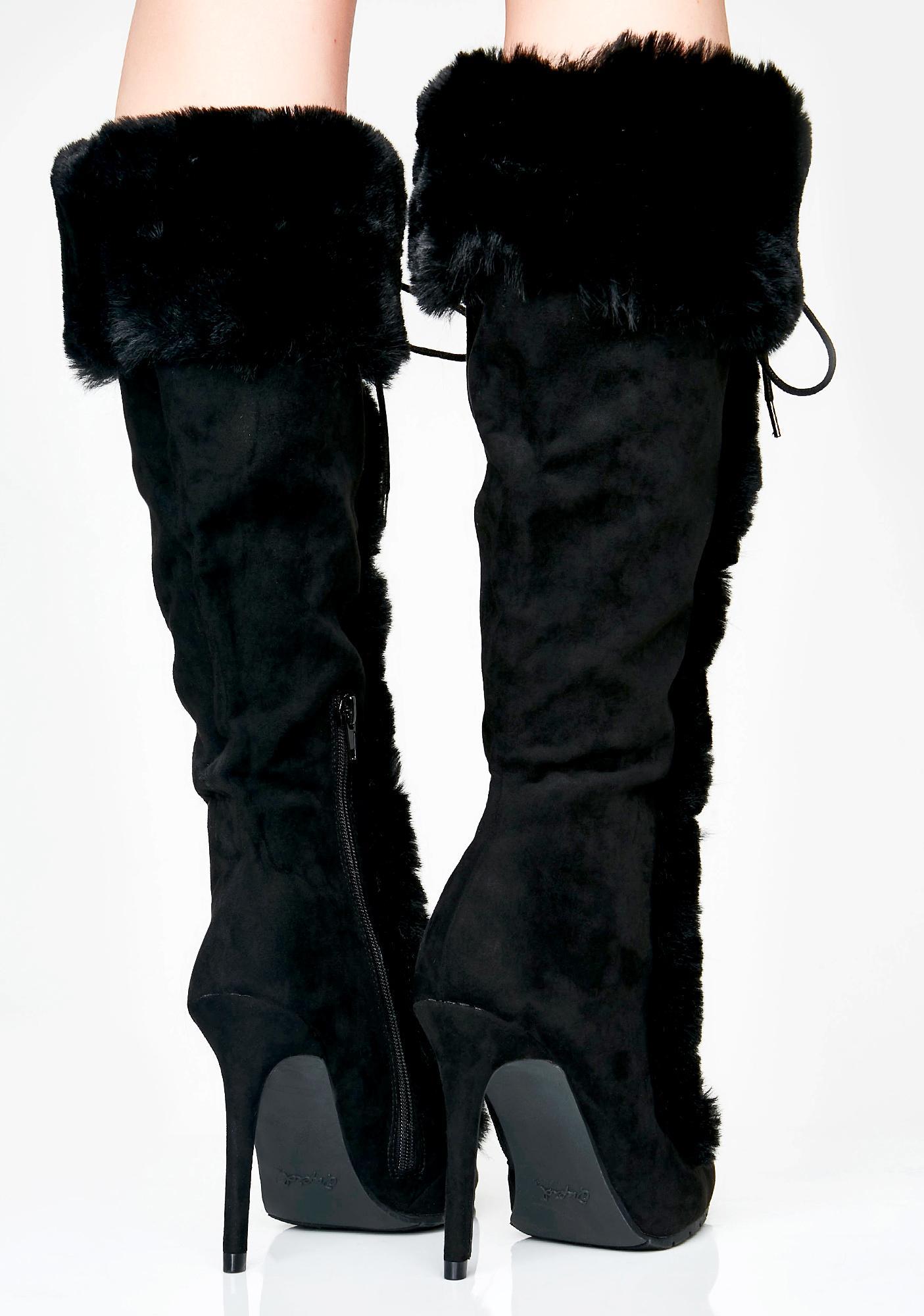 Overnight Sensation Furry Boots
