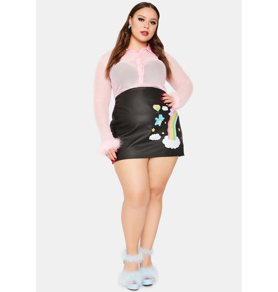Dolls Kill x Care Bears From Planet Care Mini Skirt