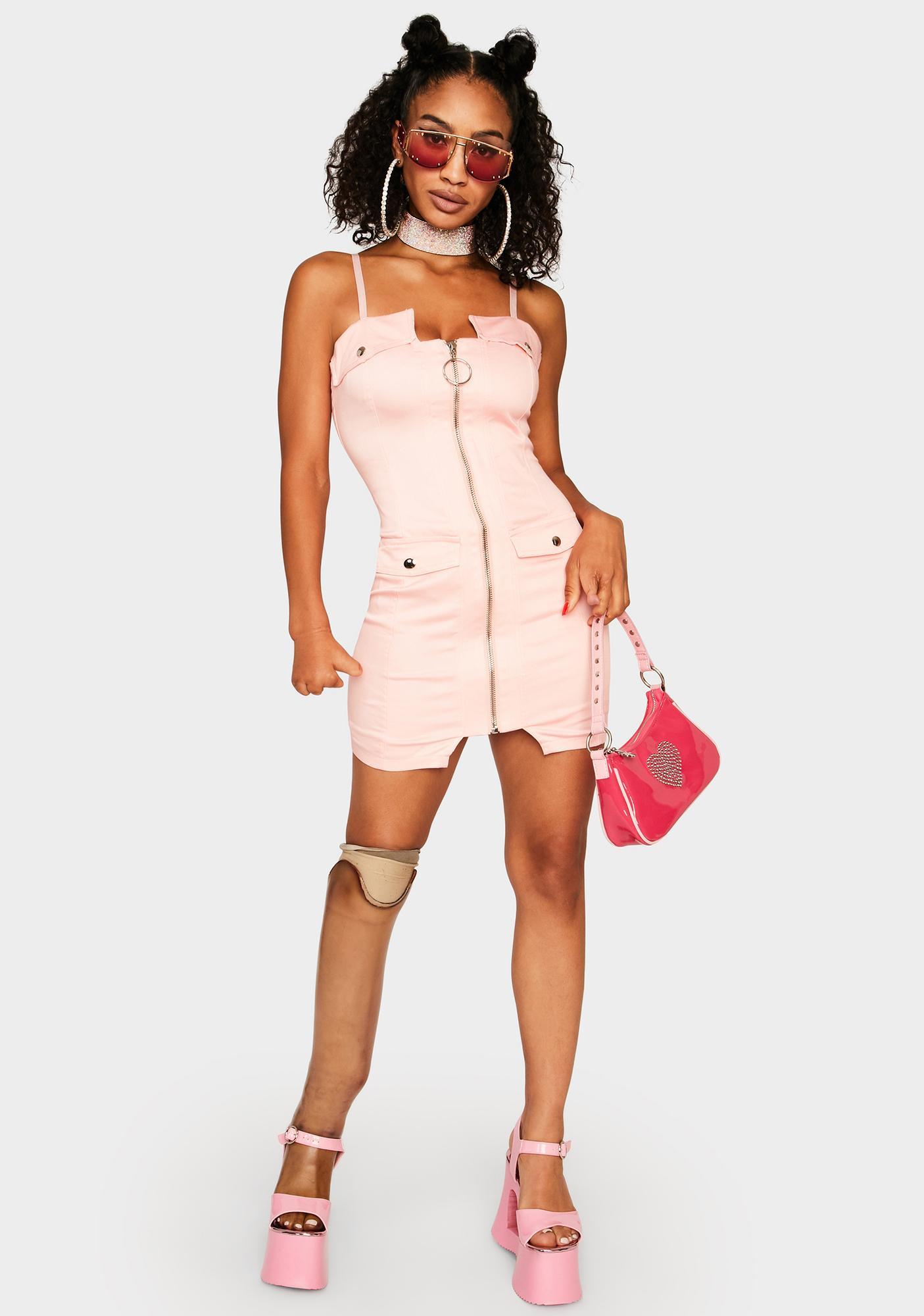 Diva Queen of Mean Denim Mini Dress