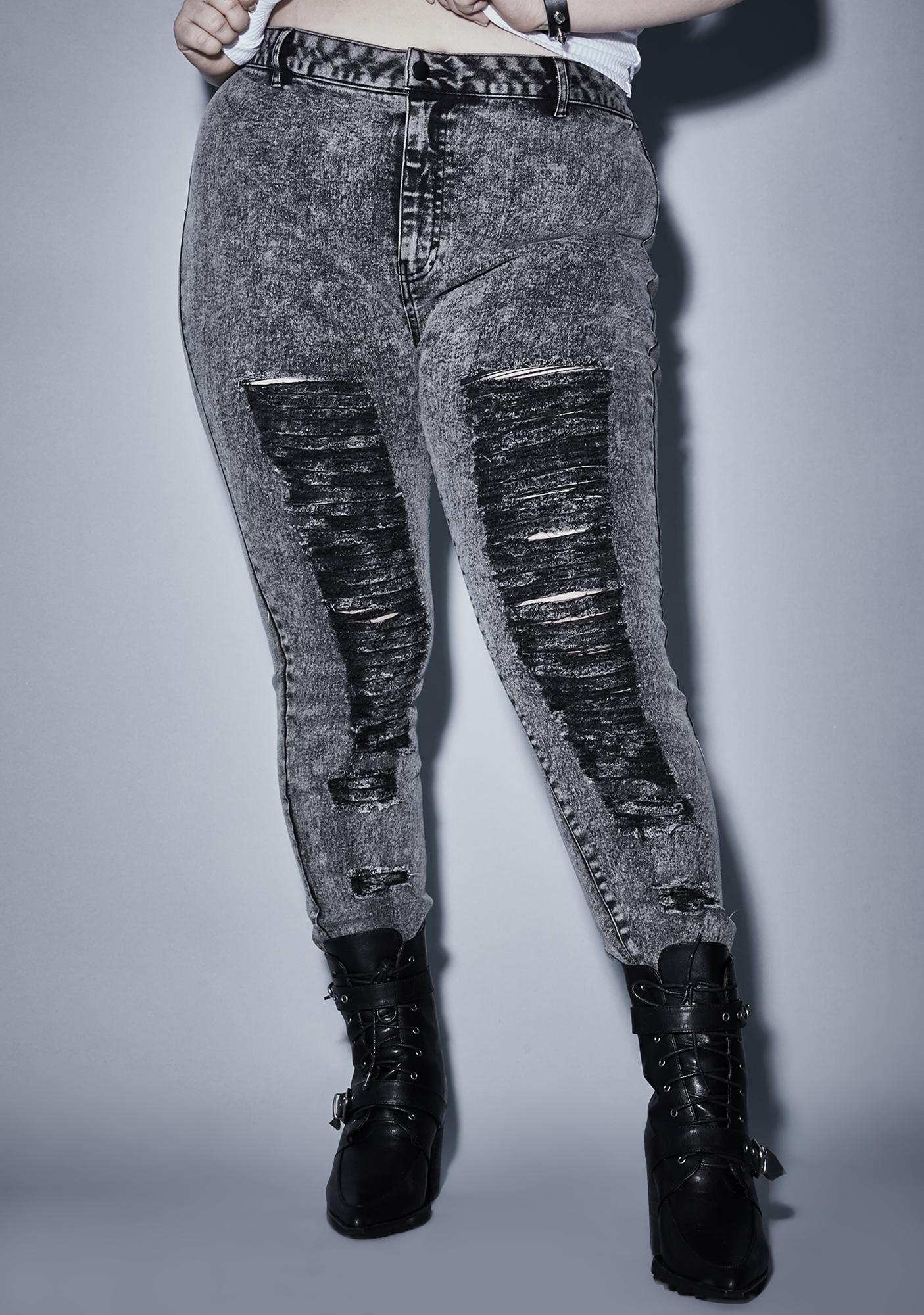 Widow Our Anthem Of Anarchy Distressed Jeans