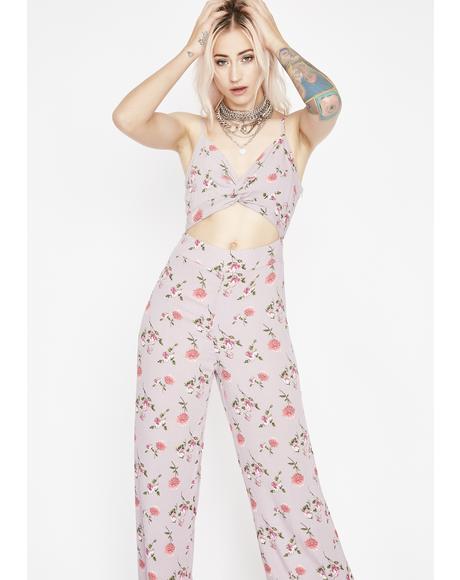 Jump In Line Floral Jumpsuit