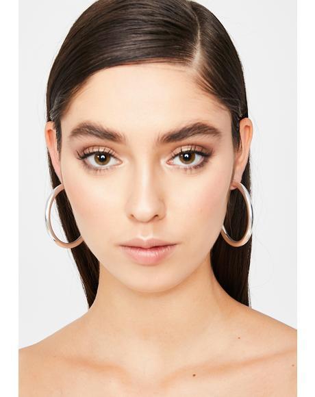 Thot Topic Hoop Earrings