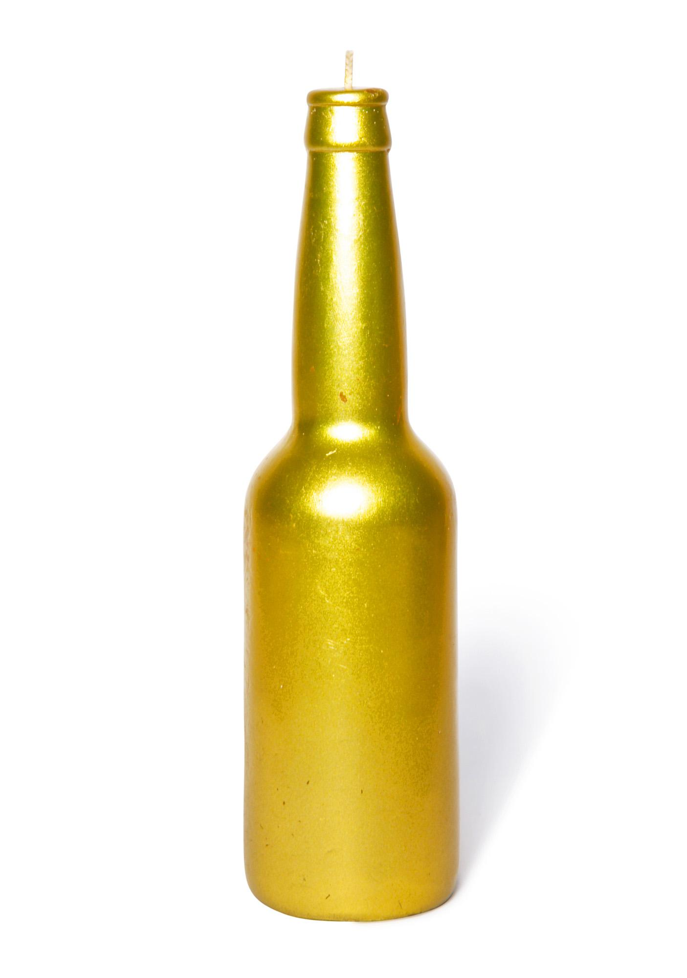Wick[ed]  Gold Beer Bottle Candle
