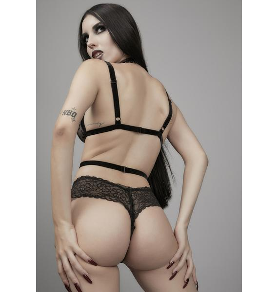 Widow Hungry For You Strappy Lace Bodysuit