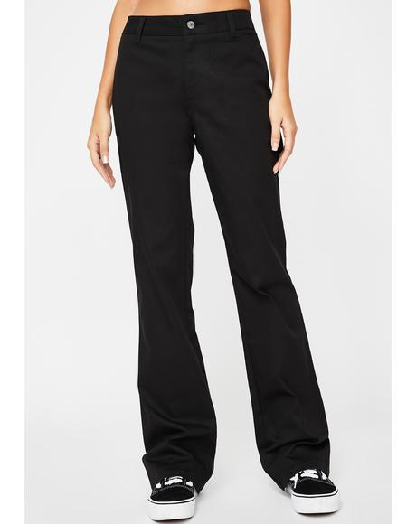 Black Worker Bootcut Pants