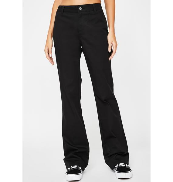 Dickies Girl Black Worker Bootcut Pants