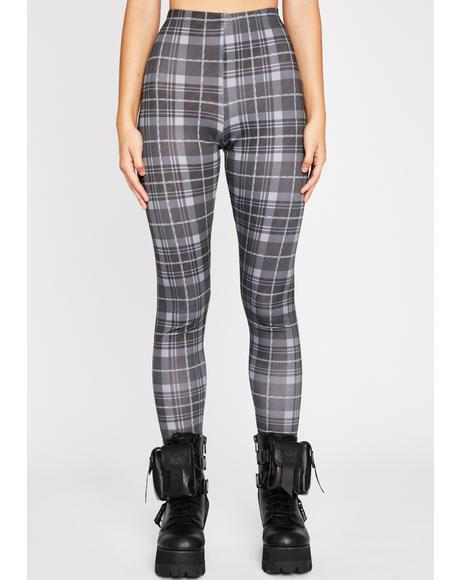 Back In Session Plaid Leggings