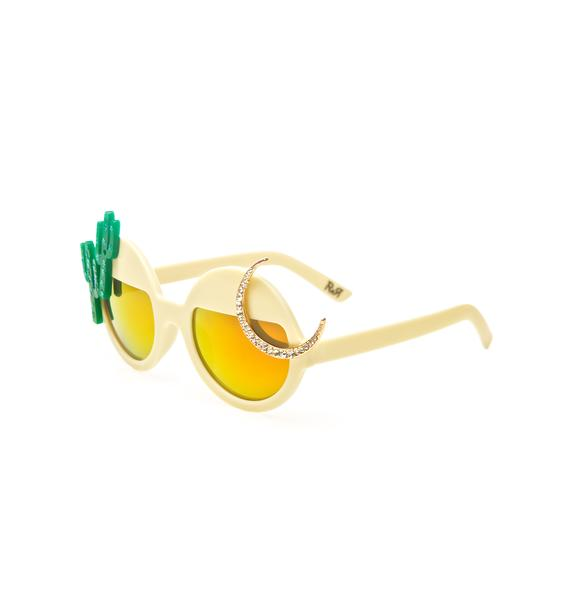 Rad and Refined Desert Moon Sunglasses