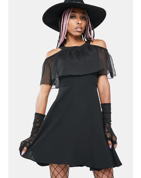 Intangible Moth Mini Dress