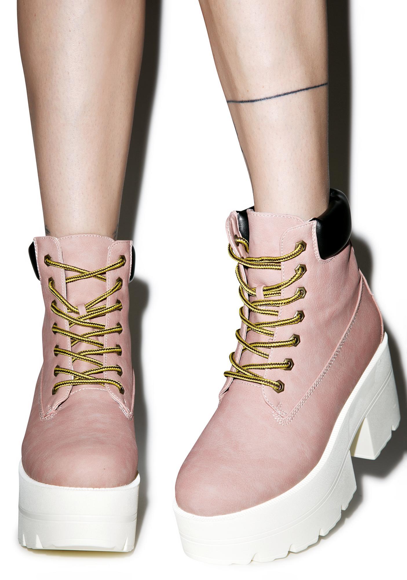 Blush Ryder Platform Boots