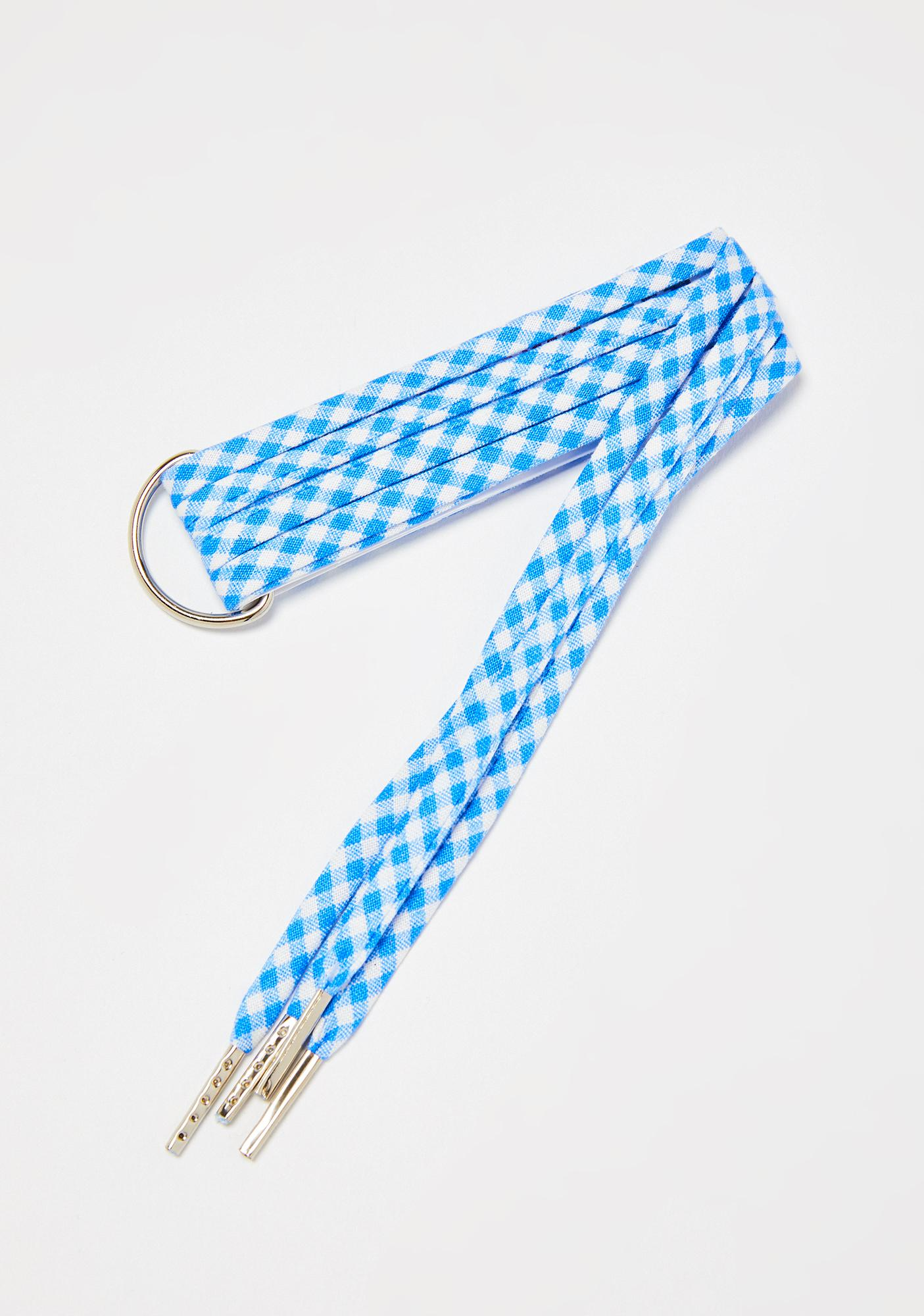 Cute Laces Dorothy Blue Checkered Shoelaces