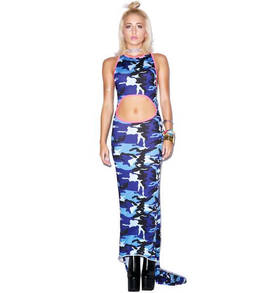 Mamadoux Camo Girl Maxi Dress
