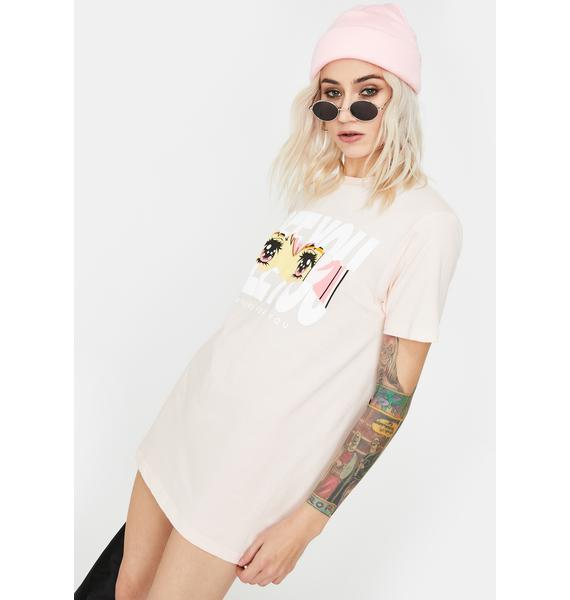 By Samii Ryan Pink Here For You Graphic Tee
