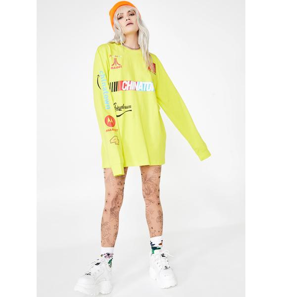 CHINATOWN MARKET Nascar Long Sleeve T-Shirt