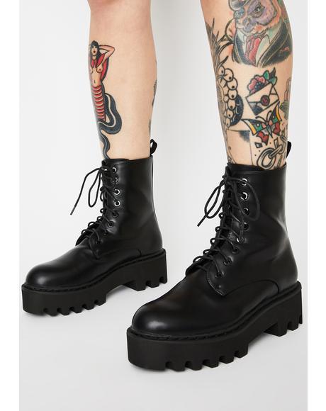 Blackout Unforgiven Chunky Combat Boots
