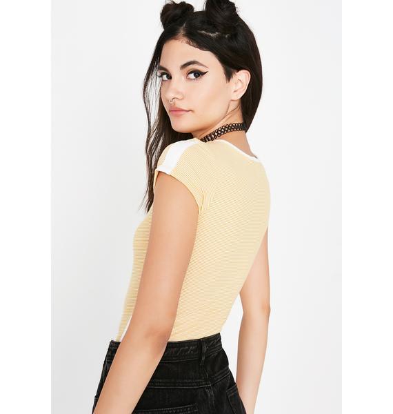 Sunny Talk That Talk Stripe Bodysuit