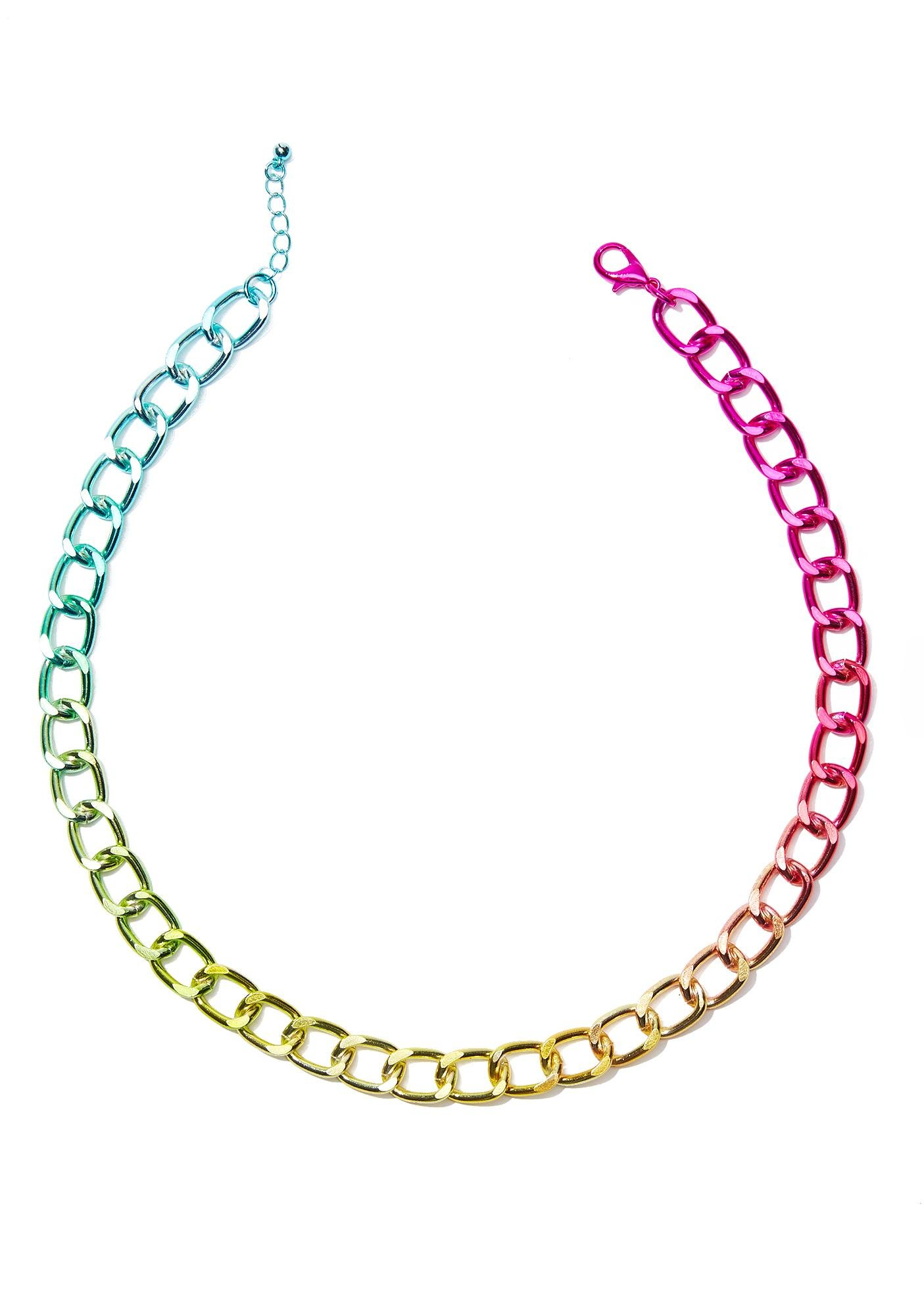 Oh So Rainbow Chain Necklace