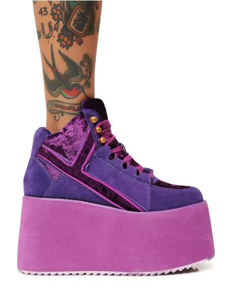 Violet Qozmo 2 Platform Sneakers