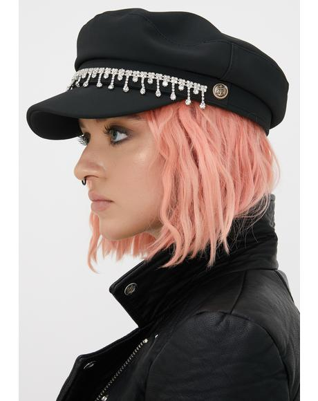 Icy Heart Biker Hat