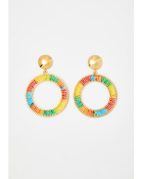 Colorful Life Hoop Earrings