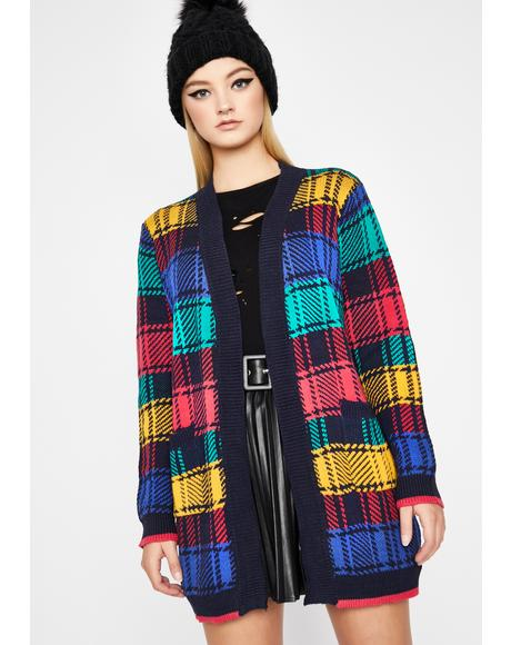 Crayon Box Plaid Cardigan
