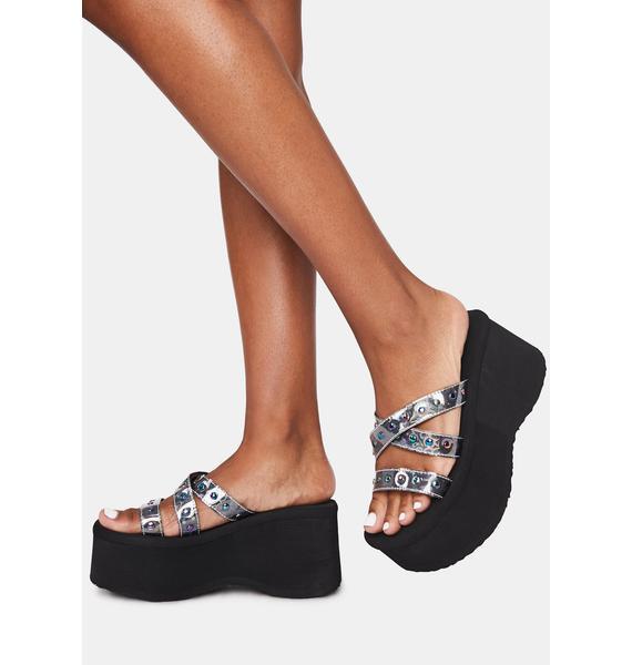 Demonia Cosmic Goth Beach Platform Sandals