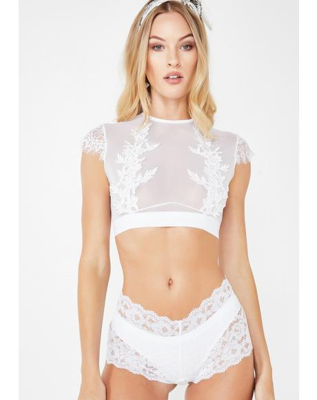 Pure Playtime Lace Boy Shorts