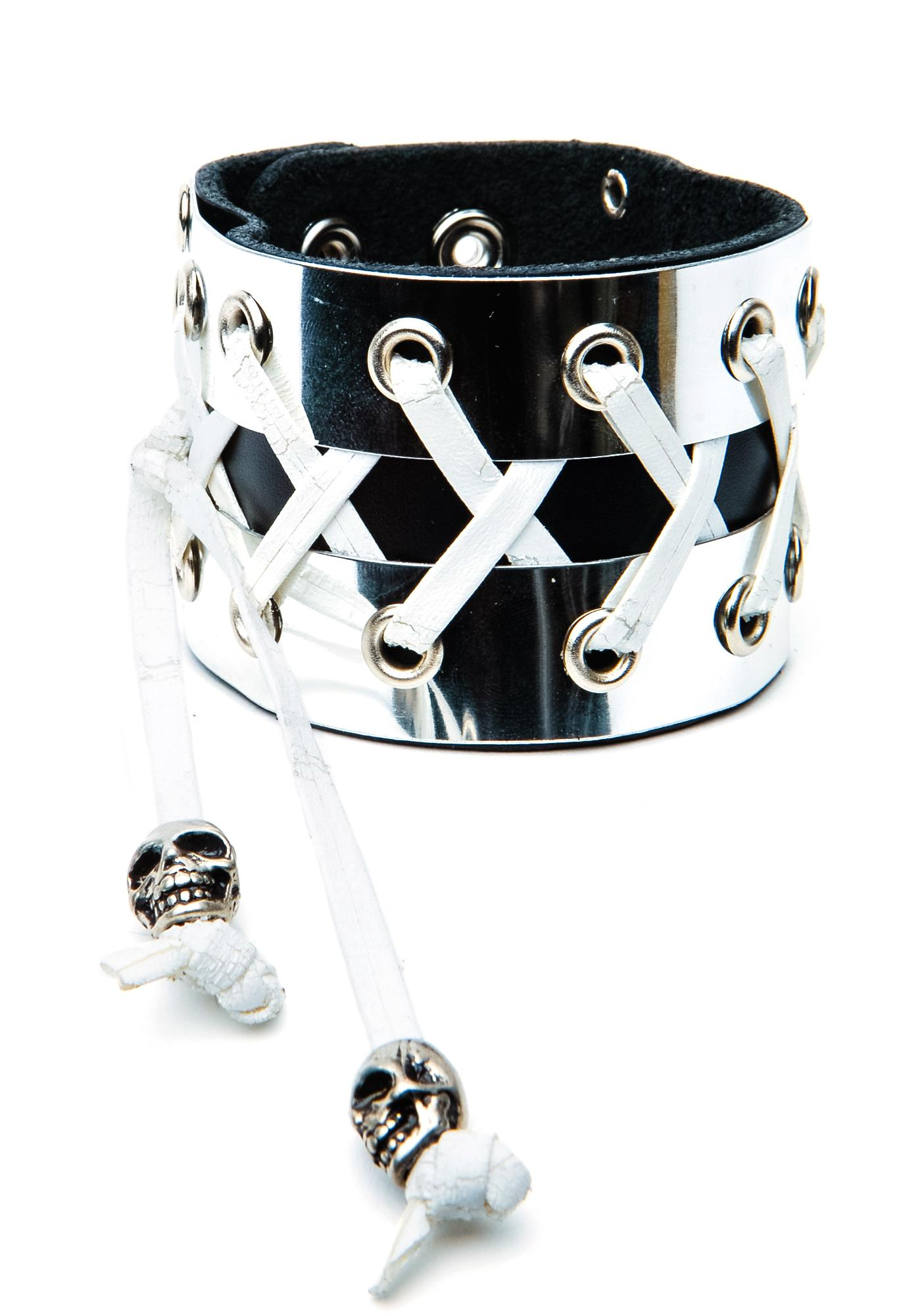 Fistful of Metal Corset Bracelet