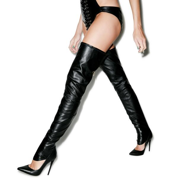 Lust For Life Krash Knee High Boots