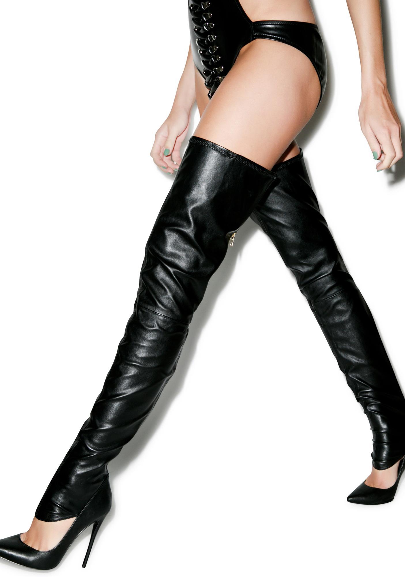 Lust For Life Krash Knee High Boots