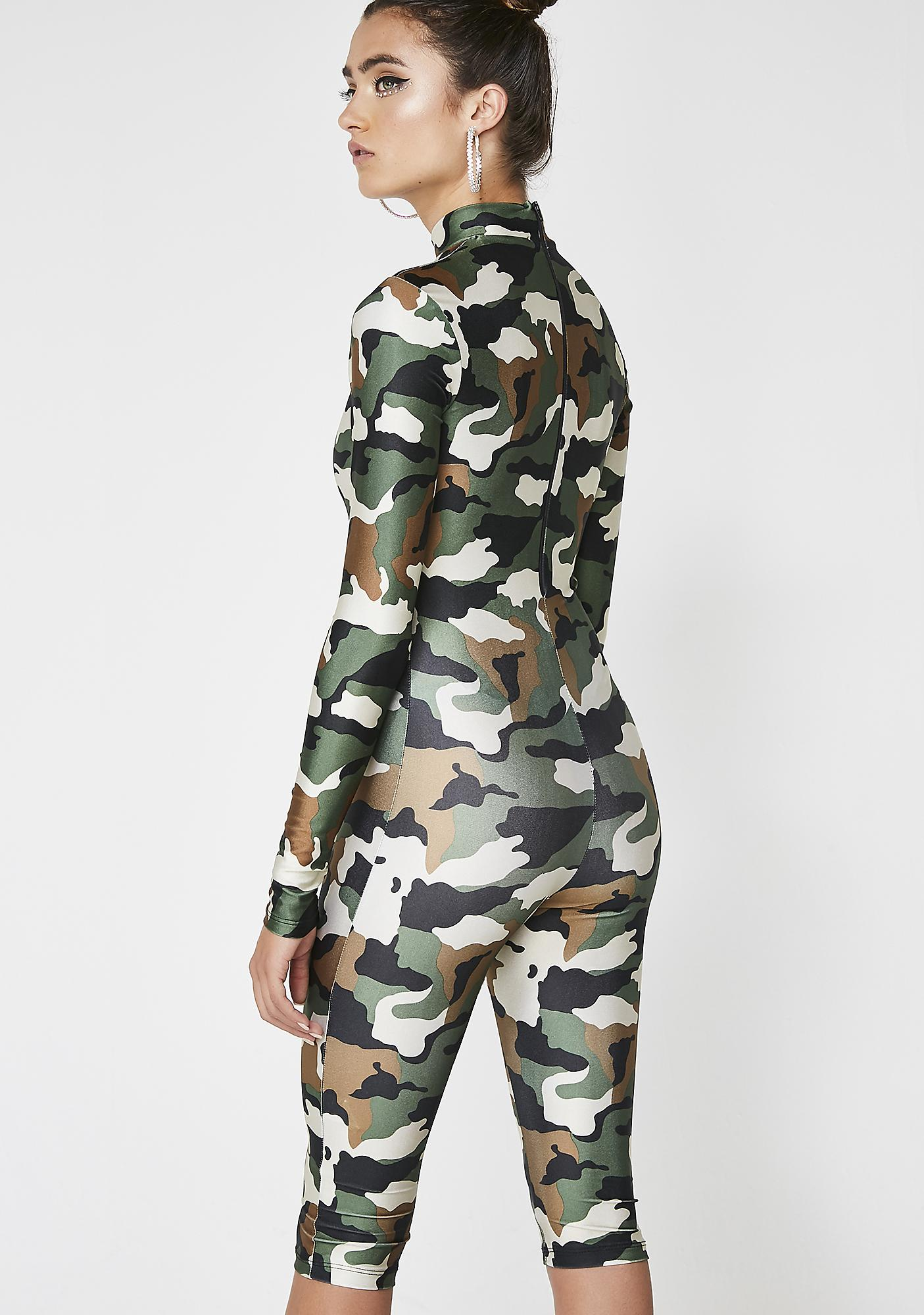Take Yo Man Camo Jumpsuit
