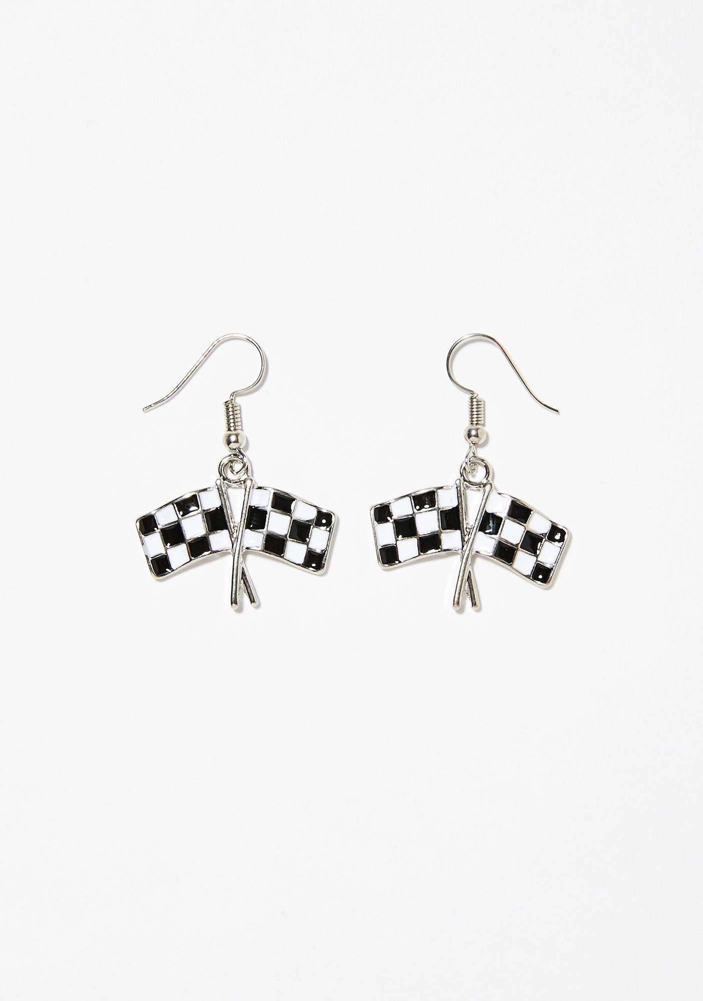 First Place Flag Earrings
