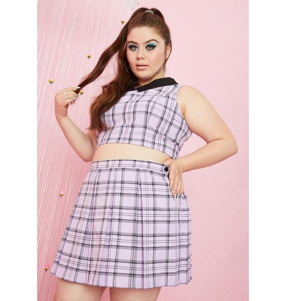 Sugar Thrillz She'll Make A Scene Plaid Skirt