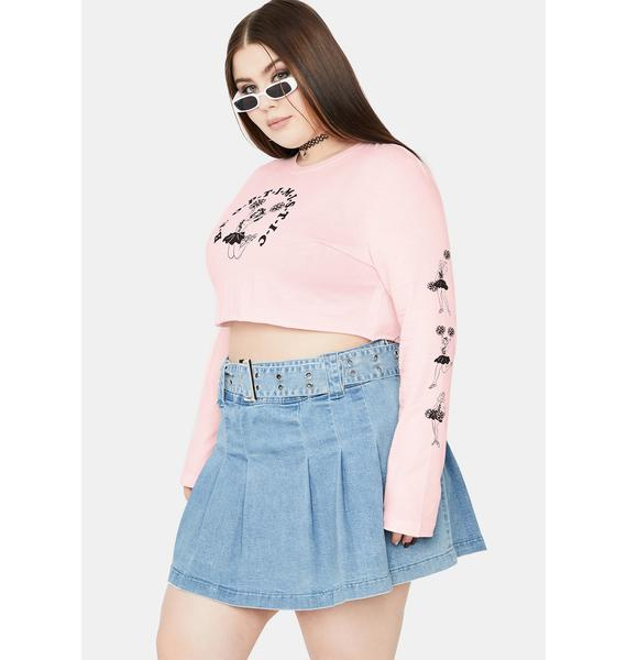 NEW GIRL ORDER Curve Cheer Long Sleeve Top