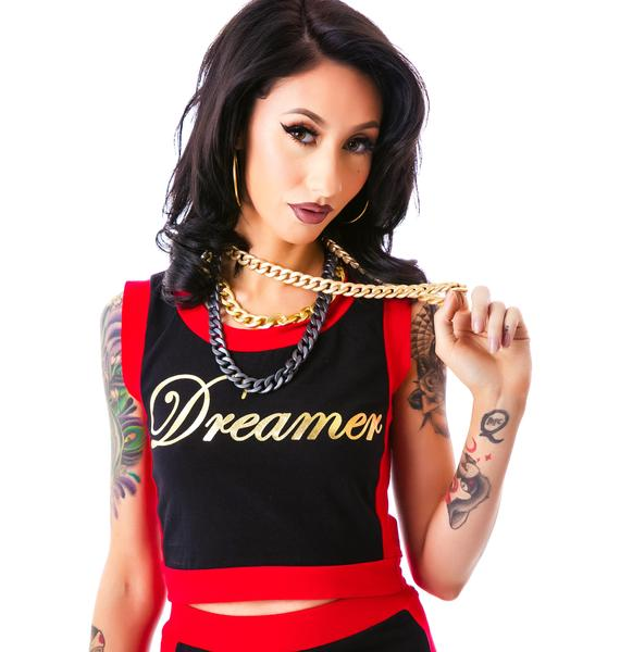 Blocked Out Dreamer Crop Top