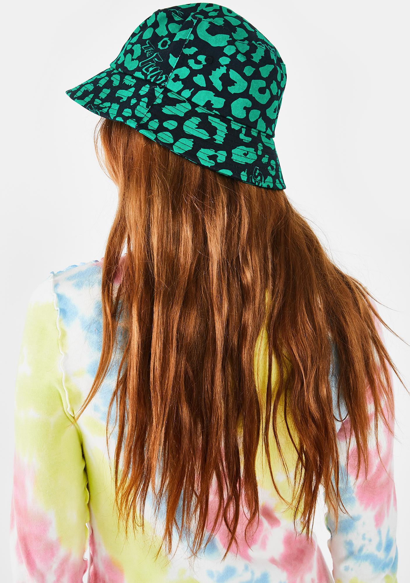 Lazy Oaf X Flintstones Dino Leopard Bucket Hat