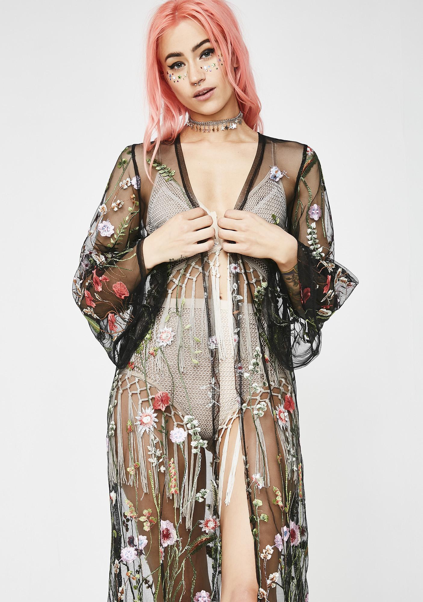 Floral Fever Sheer Kimono