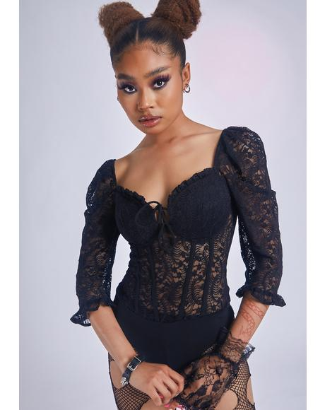 Wistful Melody Lace Bodysuit