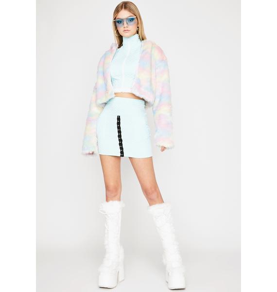 Powder Gotta Bounce Quilted Skirt